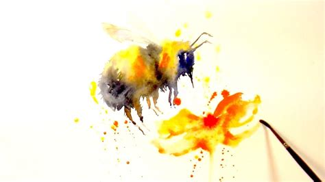 paint and color quot a bee quot a simple watercolour speed painting youtube