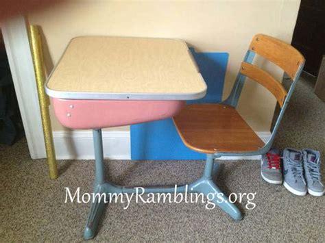 vintage school desk transformation 3 american seating