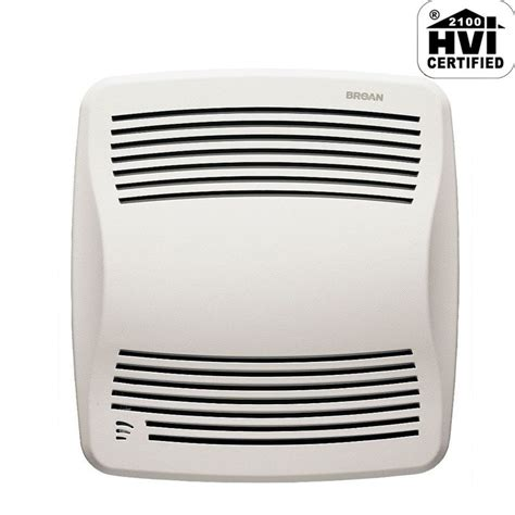 humidity sensing bathroom fan with led light broan qtxe110s white 110 cfm 0 7 sone ceiling mounted