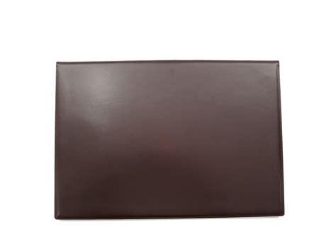 sous mains de bureau sous de bureau en cuir noir à rabat sous cuir