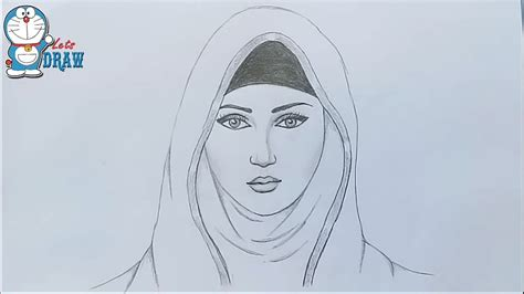 girl  hijab pencil sketch   draw  hijab girl