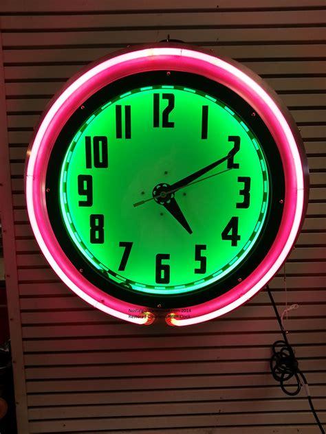 lighted clocks for sale neon clocks signs nostalgia warehouse llc