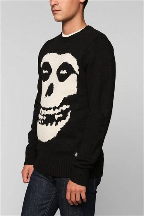 misfits sweater outfitters misfits sweater in black for lyst