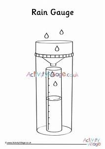 Rain Gauge Colouring Page