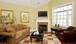 Yellow gold paint color living room modern house for Yellow gold paint color living room