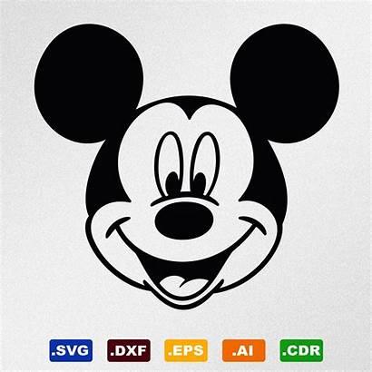 Mickey Mouse Face Topolino Faccia Vinyl Minnie