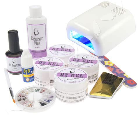 gel nail kit with uv light 36w uv light nail curing l uv gel starter kit ebay