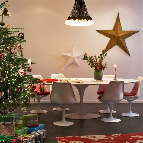 kitchen diner modern christmas decorations christmas