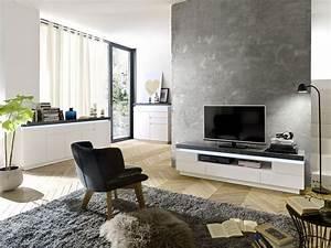 Wohnzimmer Grau Weiß Design : wohnzimmer set tv lowboard sideboard kommode weiss matt grau woody 41 02478 eur ~ Sanjose-hotels-ca.com Haus und Dekorationen