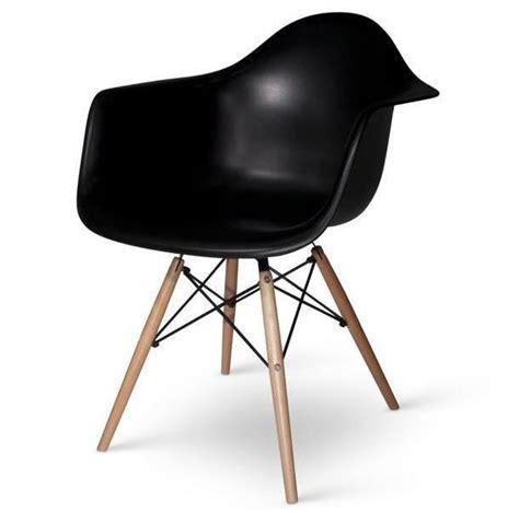 lot de 4 fauteuils charles eames daw noir discount design