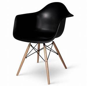 Fauteuil Charles Eames : lot de 4 fauteuils charles eames daw noir discount design ~ Melissatoandfro.com Idées de Décoration
