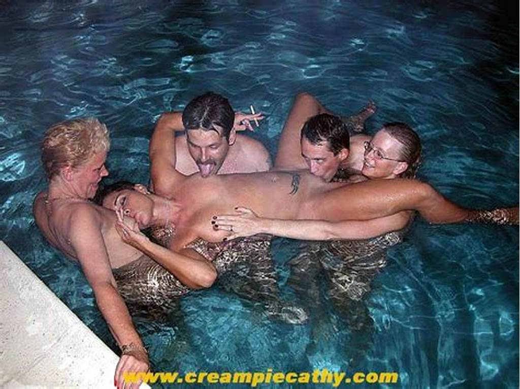 #Group #Of #Friends #Have #Sex #In #Hotel #Pool