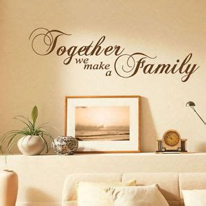 together we make a family art wall quotes wall stickers