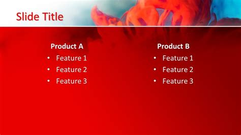 Free Red Background PowerPoint Template - Free PowerPoint ...