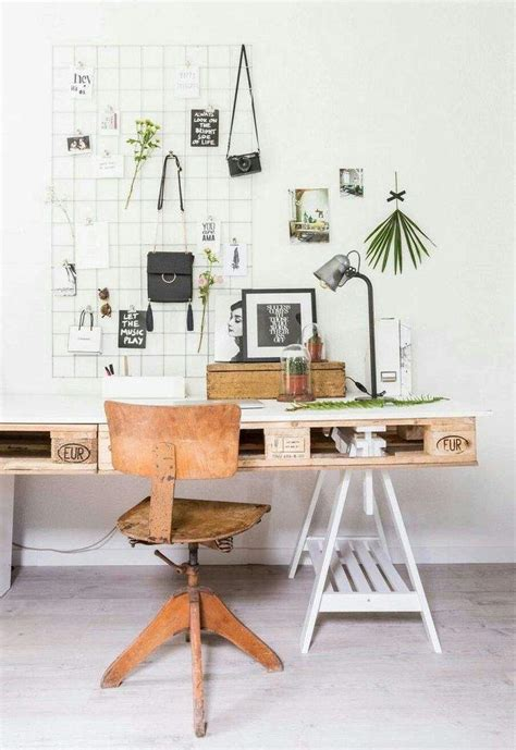 faire un bureau en bois meuble en palette 34 idées fraîches de diy déco naturelle