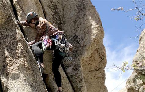 Elena Showing Off Her Crack Climbing Skills Rock Climb
