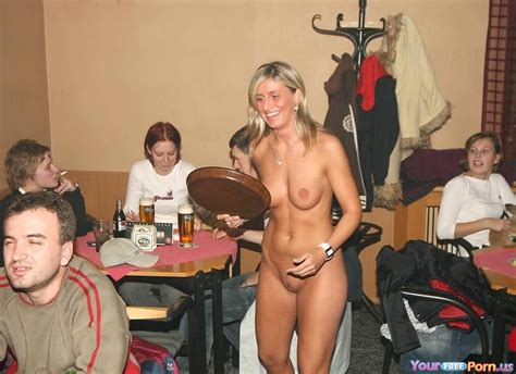 Waitress Serving Her Customers Nude In A Bar Unashamed Hardcore Pictures Pictures Sorted