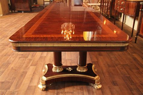 large high  mahogany dining table antique reproduction