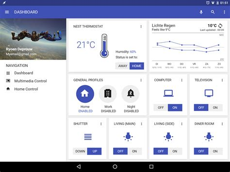 Home Automation homescreen - Uplabs