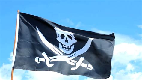 Jolly Roger Pirate Flag Waving