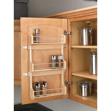 spice cabinet organizer shelf shop rev a shelf wood in cabinet spice rack at lowes com