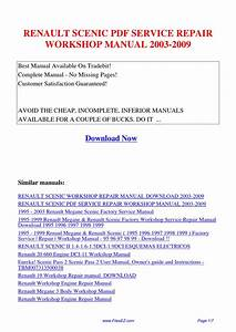 Renault Scenic Service Repair Workshop Manual 2003