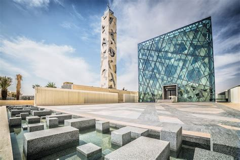 hok clads community mosque  saudi arabia  perforated