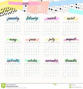 Colorful Calendar 2017
