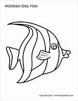 Fish Template Coral Reef Printable Moorish Idol Fishes Firstpalette Coloring Pages Templates Printables Drawing Ocean Stencils Crafts Butterfly Reefs Jellyfish sketch template
