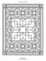 Coloring Quilt Pages Patchwork Traditional Designs Adult Books Dover Patterns Sheets Block Bezoeken Quilting sketch template