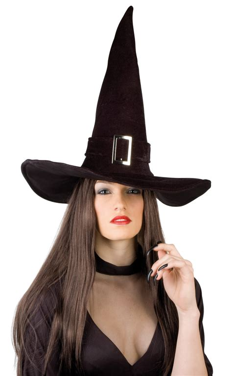 velvet witch hat halloween velvet witch hat for adults hats and fancy dress costumes vegaoo