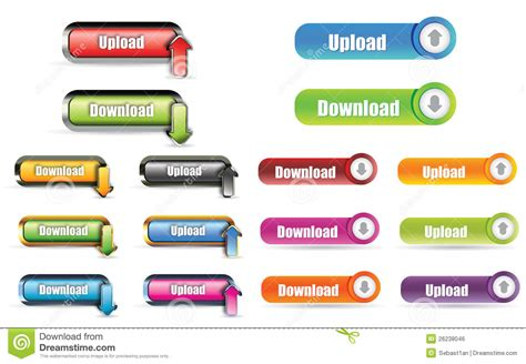 Upload Download Button Stock Vector. Illustration Of Http
