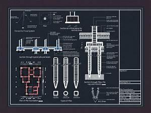 Pile Foundation Details DWG Detail for AutoCAD • Designs CAD