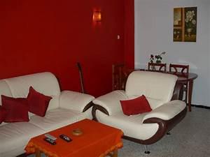 mon salon rouge et blanc photo 3 4 ambiance rouge blanc With deco salon rouge et blanc