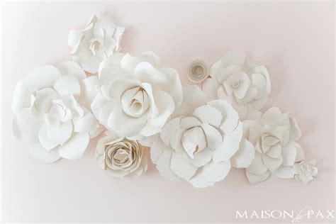 Wall Flowers Decor - diy paper flowers tutorial maison de pax