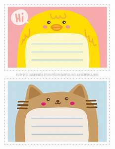 Adorable Animal Thank You Notecards For Kids Free