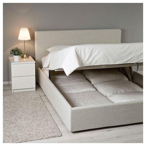 struttura letto con contenitore fetsund struttura letto con contenitore gunnared beige