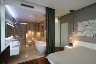 open bathroom in bedroom write spacious city dwelling