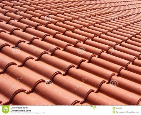 tuiles de toit rouges italiennes  stock image