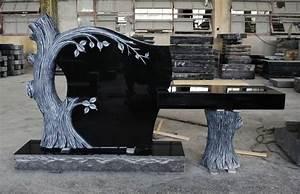 Indian Black Granite American Style Tree Shape Monument