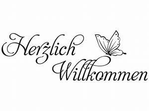 Herzlich Willkommen Bilder Zum Ausdrucken : wandtattoo herzlich willkommen mit falter klebeheld ~ Eleganceandgraceweddings.com Haus und Dekorationen