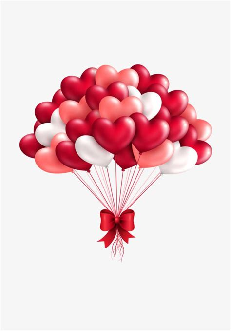 vector red love balloons wedding romantic happy png