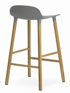 Tabouret De Bar 65 Cm : tabouret de bar form h 65 cm pied ch ne gris ch ne normann copenhagen ~ Teatrodelosmanantiales.com Idées de Décoration