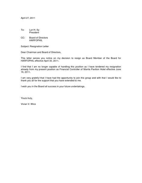 board resignation letter resignation letter format best board resignation letter