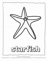 Coloring Starfish Tracing Template Printable Sheets Traceable Coloringhome sketch template