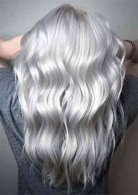 gorgeous silver blonde hair color shades   inspired   stylezco