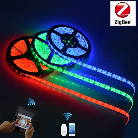 smart home light strips zigbee led smart strip lights app control remote control
