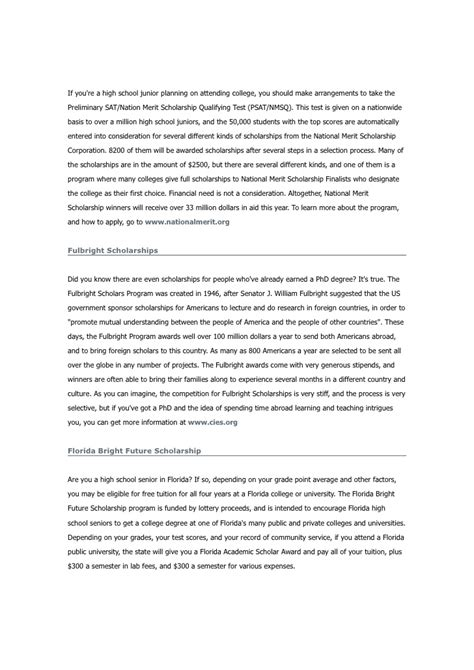 scholarship essay one