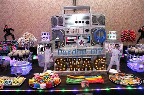 party decorations ideas house generation   hip hop