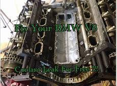 How To DIY BMW 540i 740i X5 M62 M62TU Valley Pan Gasket